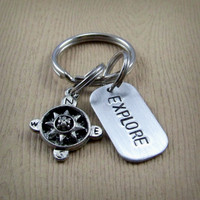 Explore - Compass Keychain
