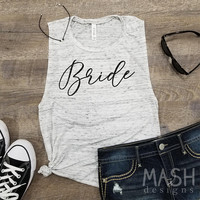bride muscle tank, bride glitter tank, gift for bride, gift for her, bride gift, future mrs tank, just engaged tank, foil tank
