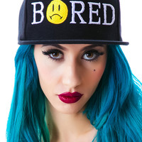 Bad Acid Bored Snapback Cap Black One
