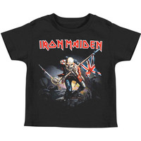 Iron Maiden Boys' The Trooper Toddler Tee Childrens T-shirt Black