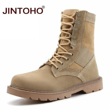 Unisex Winter Boots Fashion Work & Safety Men Boots Cow Suede Male Shoes Mid-Calf Leather Male Boots Winter Shoes