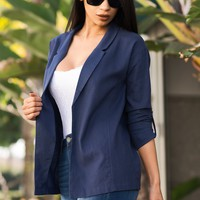 Evelyn Cardigan/ Blazer - Navy