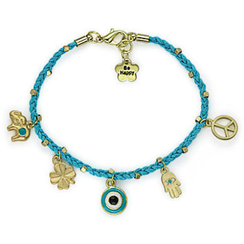 Elephant Bracelet/Peace Symbol Bracelet/Hamsa Evil Eye Bracelet.-- Steampunk bracelet. Christmas gift--3 colors available
