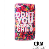 SWEEDISH house mafia iPhone CASE don't you worry child iPhone 4 iPhone 4s iPhone 5 hard plastic case hipster trendy dub step