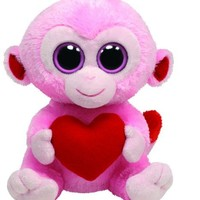 Ty Beanie Boos Julep Pink Monkey with Heart