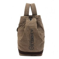Icon Vintage Canvas Backpack For College Lightweight Book Bags For Men (Brown):Amazon:Clothing