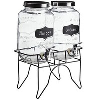 Double Mason Jar Chalk Note Drink Dispenser