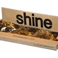 Shine 24K Gold Rolling Papers - 12 Sheet Pack