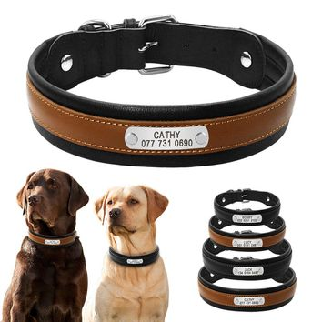 Personalized ID Leather  Dog Collars