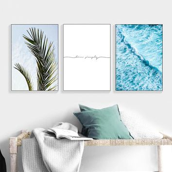 Scandinavian Style Ocean Sea Waves Canvas Nordic Posters and Prints Landscape Wall Art Painting Decoration Pictures Home Decor