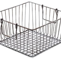 Square Wire Storage Bin, Storage Baskets