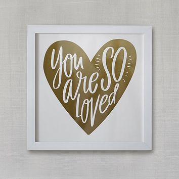 So Loved Heart Wall Art by Minted®