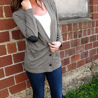 Vintage Elbow Patch Cardi | The Rage