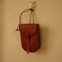 Handcrafted leather belt pouch | Phone pouch bag