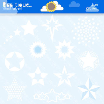 White Stars Digital Clipart. Christmas Clip Art for Instant Download. Xmas Clipart. Stars Clipart. Stars Clip Art. Winter Clipart.