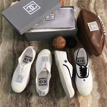 Chanel-Vintage White Shoes