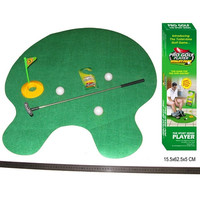 New Potty Putter Toilet Golf Game Mini Golf Toys = 1714242756