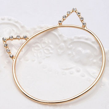 Gold Cat Ear Beaded Bracelet