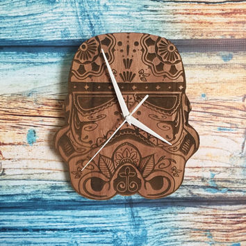 Star wars stormtrooper sugar skull clock