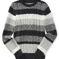 Aeropostale  Stripe Cable-Knit Sweater