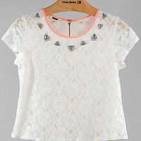 Miss Me Lace Overlay Top
