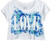 Love Cropped Graphic Tee