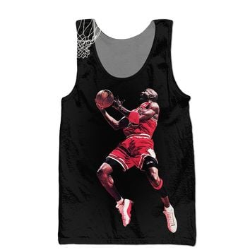 75ede772644c96 hot sale summer Mens Jordan Tank Tops Fashion Brand clothing Jordan dunk 3D  Print Hip Hop