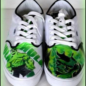 VONE05D mens shoes mens painted vans converse generic shoes vans converse hulk incredible