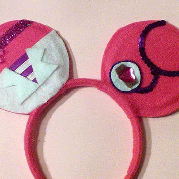DOC MCSTUFFINS minnie mouse ears. One of a kind ears that you will not find through Disney.