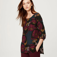 Autumn Blossom Pocket Blouse | LOFT