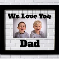 We Love You Dad Floating Picture Frame - Gift from Daughter Son Kids Children