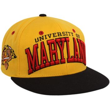 Zephyr Maryland Terrapins Gold-Black Superstar Snapback Hat