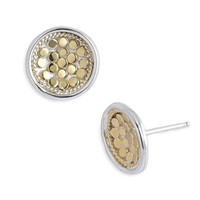 Women's Anna Beck 'Gili' Small Dish Stud Earrings - Gold/ Silver