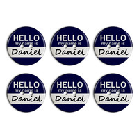 Daniel Hello My Name Is Plastic Resin Button Set of 6