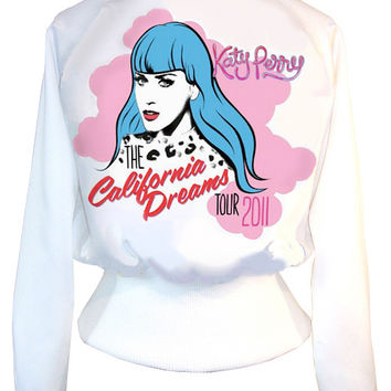 Katy Perry California Dreams Pop Art High Waisted Satin Jacket