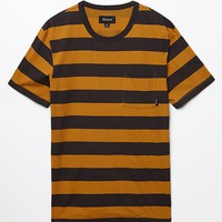 Brixton Stripe Pocket T-Shirt - Mens Tee - Black