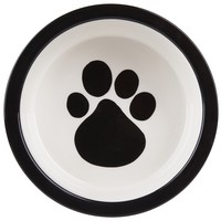 Melia Pet Paw Ceramic Dog Bowl