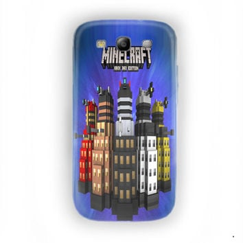 Minecraft  Doctor Who Skin Pack Xbox 360 For Samsung Galaxy S3 Case