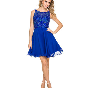 Royal Illusion Sweetheart Chiffon Dress 2015 Homecoming Dresses