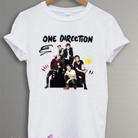 one direction shirt 1D shirt tshirt t-shirt tee shirt printed white color unisex size