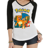 Pokemon Group Girls Raglan