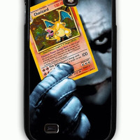 Samsung Galaxy S4 Case - Rubber (TPU) Cover with pokemon joker charizard Rubber Case Design