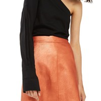 Topshop Faux Leather Skirt | Nordstrom