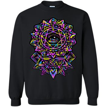 Attractive Eye Of God Flower Mandala Neon 80s 2017 T Shirt