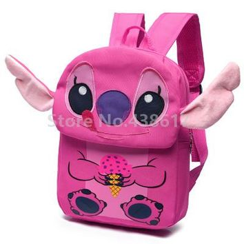 Toddler Backpack class Cute Lilo and Stitch Pink Purple Angel Backpack School Bags for Girls Kids Kindergarten Preschool School Toddler Bag AT_50_3