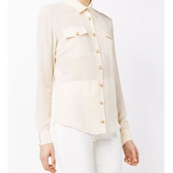 BALMAIN   Silk Shirt   brownsfashion.com   The Finest Edit of Luxury Fashion   Clothes, Shoes, Bags and Accessories for Men & Women