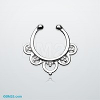 Imperial Filigree Fake Septum Clip-On Ring
