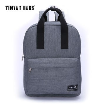 Men Canvas Casual School Bags Backpack