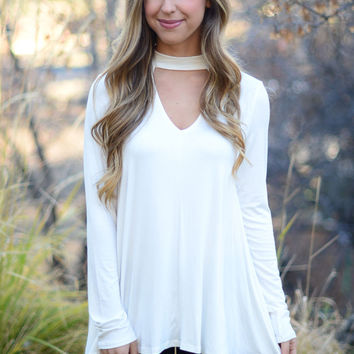 Back In Action Top- Ivory