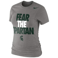 Michigan State Spartans Nike Women's Local Slim Fit T-Shirt – Gray